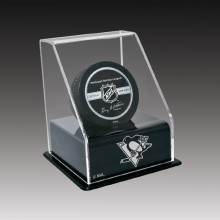 Hockey Pucks display case